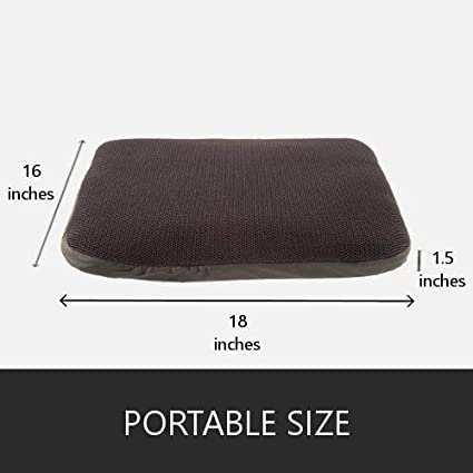 Airplane Travel Car Seats Office Chairs PURAPs KIRO Orthopedic seat Cushion for Sitting Pain and ischial Pain Relief Fluid 3D Flotation Technology Sciatica