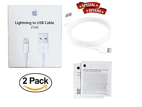 Cheap Cables 2 Pack NEW Authentic Lightning Cable USB Cable/Charger for Apple iPhone X..