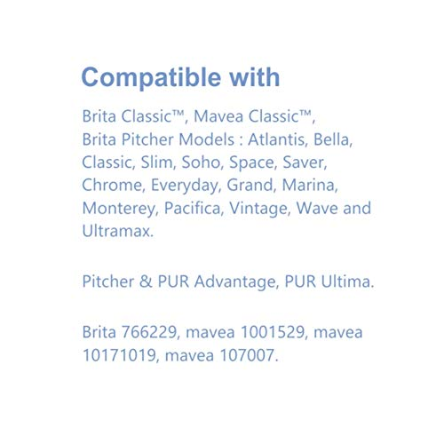 Alkaline Water Pitcher Replacement Filters Mavea Replacement Filters Brita Replacement Filters 3 Pack Eco4us Water Pitcher Filters Inc EK-RF1