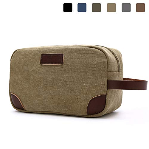 Toiletry Kit,Lanivas Mens Durable Cosmetic Makeup Bag for Gym Camping Trip Khaki