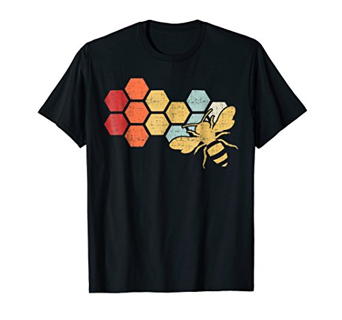 Bee Womens T-shirt - Retro Vintage Beekeeper Beekeeping Honey T-Shirt
