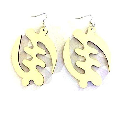 Gye Nyame Wood Earrings