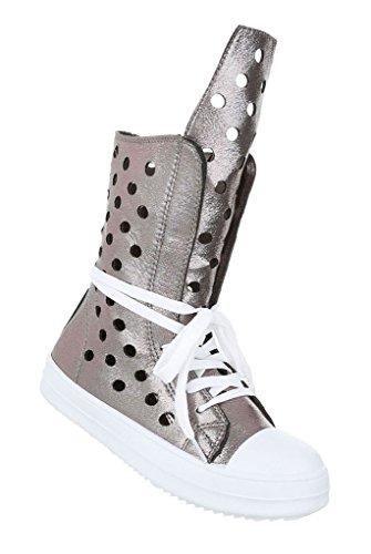 Damen Freizeitschuhe Schuhe Sneakers Sportschuhe Turnschuhe Grau