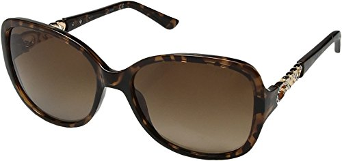 GUESS Women's Acetate Polarized Square Sunglasses, 52H, 59 - Polarized Sunglasses Guess