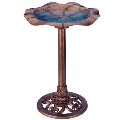 The Excellent Quality Lily Leaf Bird Bath Copper