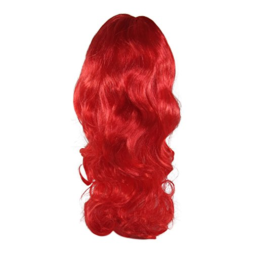 Missamé Red Color Wig for Dress Up, Cosplay, Kids Adult Halloween Costumes -