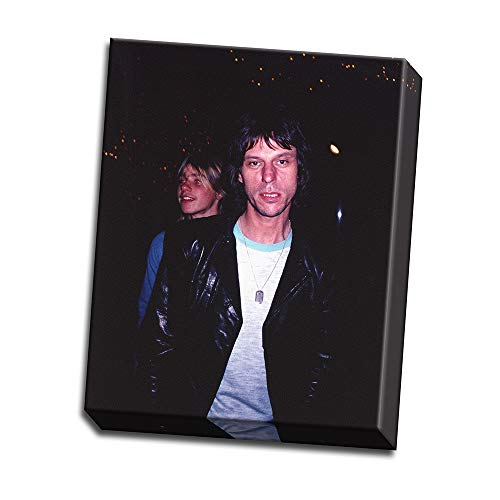wallsthatspeak Jeff Beck Candid Shot in Black Sport Coat and White Ringer T-Shirt Printed on 24x30 Canvas Wall Art by Movie Star News