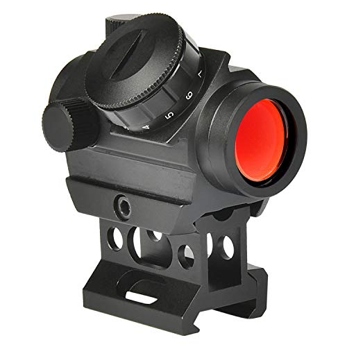 MidTen 2MOA Micro Red Dot Sight 1x25mm Reflex Sight Waterproof & Shockproof & Fog-Proof Red Dot Scope