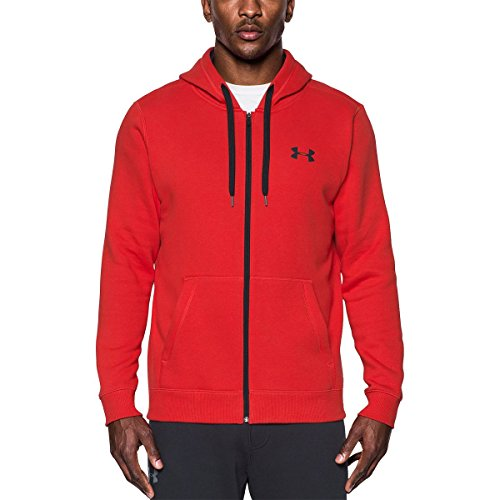 Under Armour Rival Fitted Full Zip, Felpa Uomo, Rosso, XS