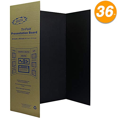 (Black Tri-Fold Presentation Board 36