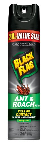 Black Flag Ant & Roach Killer Aerosol, Spring Fresh Scent 20oz.