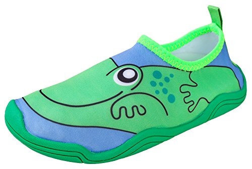 - Lil' Fins Kids Water Shoes - Beach Shoes | Summer Fun | 3D Toddler Water Shoes Kids | Quick Dry | Swim Shoes Frog 10/11 M US Toddler