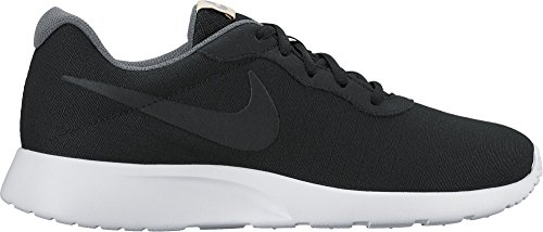 Nike Tanjun - Zapatillas Unisex, Color Negro/Blanco, Talla 40.5 BLACK/METALLIC CL GREY/ANTHRCT/PR PLT