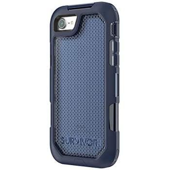 sale retailer 27de5 f152f Griffin Survivor Extreme iPhone 8 Rugged Case - Impact Resistant Case with  Holster, Navy/Tint