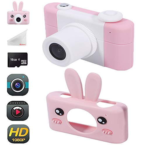 Balee Kids Digital Camera Mini 2 Inch Screen Children's Cameras 8MP HD Video Cameras Camcorder for Girls and Boys Included 16G TF Card and Silicone Soft Cover
