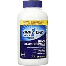 Uno un día Hombres La Salud De La Fórmula, 300tabletas Complete Multivitamin con Licopeno Apoyo Salud Salud, inmune, Corazón, saludable la presión arterial
