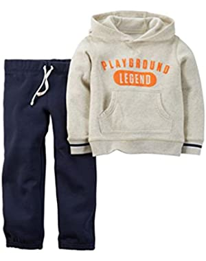 Carters Infant Boys Playground Legend Hoodie Sweatshirt & Pants 2 PC Outfit