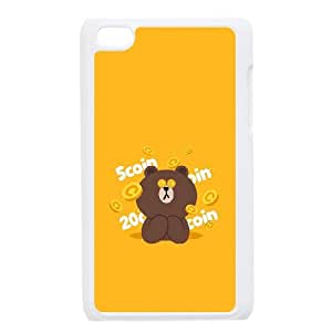BearBrown&BunnyCony cameo For Ipod Touch 4 Csaes phone Case THQ140052