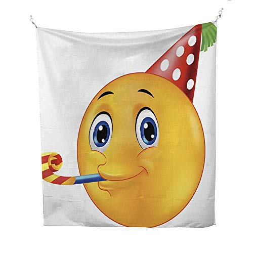 25 Home Decor Tapestries Cartoon Smiling Emoticon Going