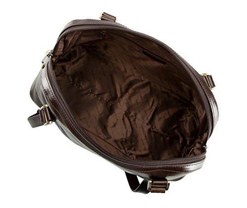 WITTCHEN Klassische Tasche | 29x35cm, Narbenleder | Passend für A4 Größe: Ja | Dunkelbraun, Kollektion: Venus | 35-4-582-4