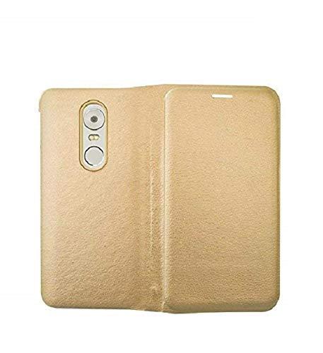 Coverage Flip Cover for Lenovo K6 Note   K53a48   Golden