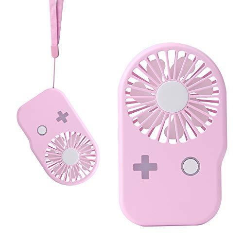 [해외]USB 선풍기 미니 선풍기 휴대용 선풍기 소형 선풍기 풍 량 2 단계 조절 소형의 스트랩과 목 걸 선풍기 소형 초경량 68g 성인 아이 적용 분홍색 (A-2-핑크) / USB Fan Mini Fan Portable Fan Small Fan Wind Volume 2-Step Control Hand-held Strap C...