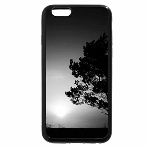 iPhone 6S Case, iPhone 6 Case (Black & White) - Sunset nature