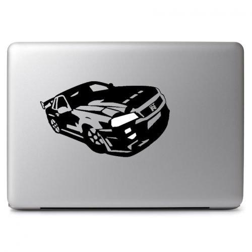 (Black Nissan GTR R34 Vinyl Decal Sticker Skin, Die Cut Vinyl Decal for Windows, Cars, Trucks, Tool Boxes, laptops, MacBook - virtually Any Hard, Smooth Surface )