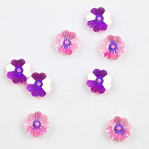 6 pcs - Swarovski Elements #3700 6mm Crystal Flower Margarita Beads Rose AB