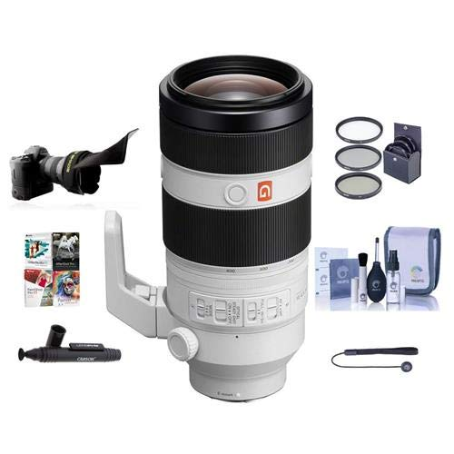Sony FE 100-400mm f/4.5-5.6 GM OSS E-Mount Lens - Bundle with 77mm Filter Kit, Flex Lens Shade, Cleaning Kit, Capleash II, Lenspen Lens Cleaner, Software Package