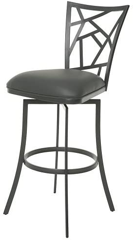 Impacterra Homestead Swivel Barstool, 30 , Matte Gray