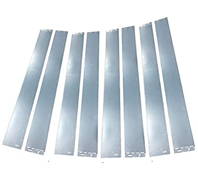 FOYUEE Garden Edging Border Galvanized Metal Fence Panels Landscape Fencing 32', Set of 8
