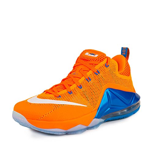Nike Mens Lebron XII Low Bright Citrus/White-Total Orange Synthetic Size 12