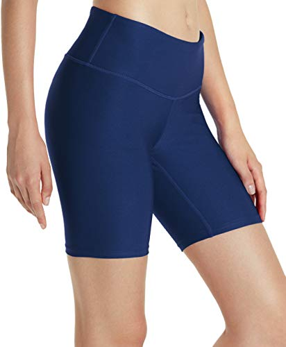 Tesla TM-FYS11-NVY_Medium Shorts 7″ Bike Running Yoga w Hidden Pockets FYS11