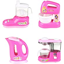 Fajiabao Kitchen Playset Household Appliance Pretend Toy for Kids Girls Set of 4