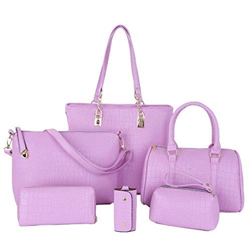 Sac Loisirs le Femme Violet Six sac Grande Pieces à Capacité Dans bandoulière rArRB