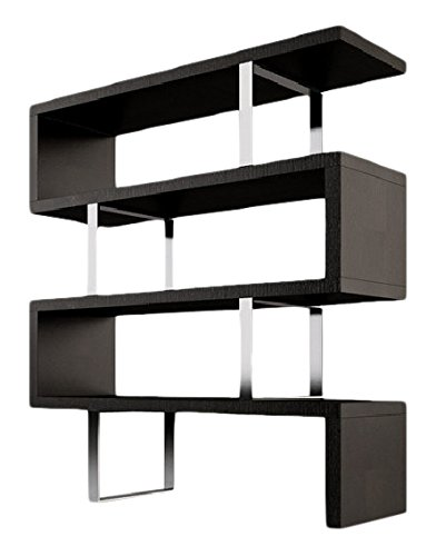 Neos Modern Furniture Creative Images International Cube Collection Oak Veneer Display Bookshelf With Metal Accents  Small  Wenge Wood