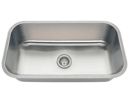 Polaris Sinks PC8123 Single Bowl Stainless Steel Sink by Polaris Sinks by Polaris Sinks