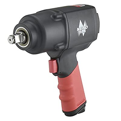 """Neiko 31392A 1/2"""" Composite Air Impact Wrench, Twin Hammer, Pistol Grip"""