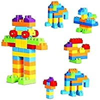 Advent Basics Small DIY Building Blocks for Kids with Wheel, Best Gift Toy, 41 Blocks + 4 Wheels Multicolor