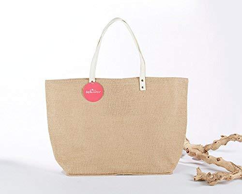 Kate Aspen Natural Jute Tote Bag