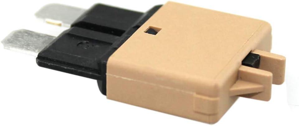 SODIAL Disjoncteur Moyen /à R/éinitialisation Manuelle 10A Protecteur de V/éhicule Disjoncteur DC 28V pour R/établir Fusible de la Voiture Rouge