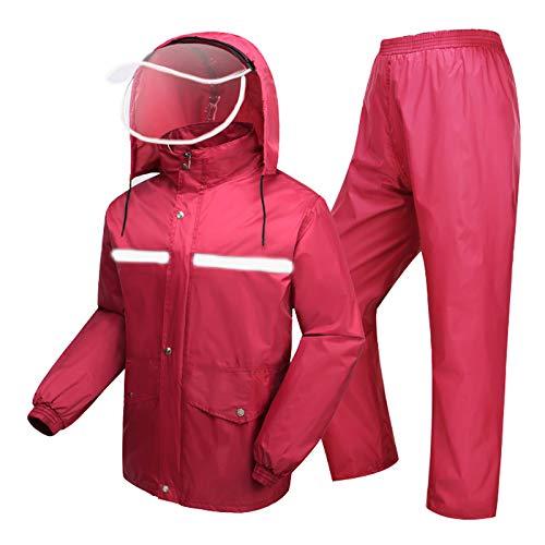 Con Pantalones De Capucha Exterior Lluvia Viento Y Trajes Divididos Traje Adulto Impermeable Prueba Trabajo A 87wzqgx