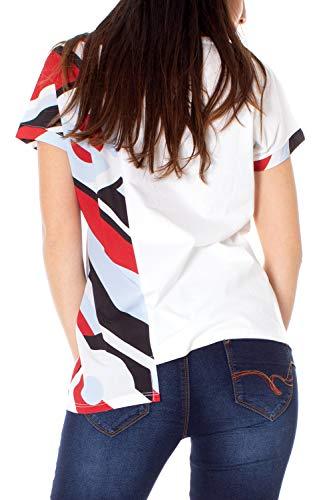 da Desigual 19swtkcj Ts shirt Brandall T bianca donna xIaZqnn
