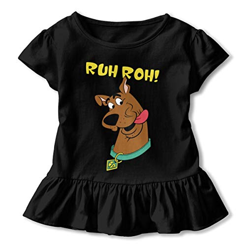 - Kim Mittelstaedt Scooby Doo Ruh Roh Children's Short Sleeve T-Shirt Girl's Cute Soft Cotton Dress Black 2T
