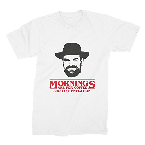 Mornings Are For Coffee And Contemplation Shirt Chief Hopper