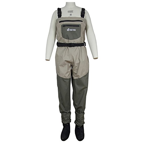 Men's Breathable Fly Fishing Wader, Waterproof Chest Wade...