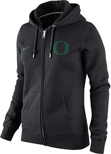 Nike WOMENS Oregon Ducks NCAA Full Zip Hoodie (Medium, Black)