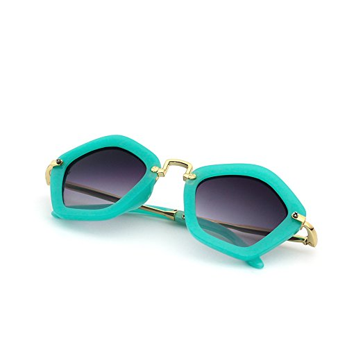 CMK Trendy Kids Cute Pentagon Kids Sunglasses Party Favors for Girls and Boys UV 400 Shades Age 3-8 - Shaped Sunglasses Flame
