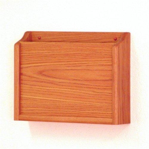 Wooden Mallet PCH15-1 Medium Oak Single Pocket HIPAA Compliant Wall Chart Holder